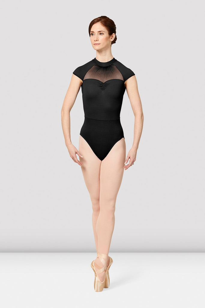 Ladies Mirella Vienna Cap Sleeve Mesh Back Leotard - BLOCH US