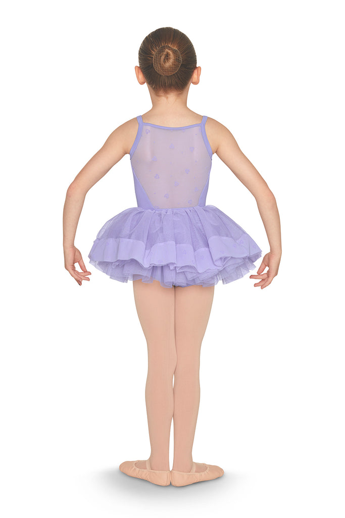 Girls Heart Flock Mesh Trim Tutu Skirt - BLOCH US
