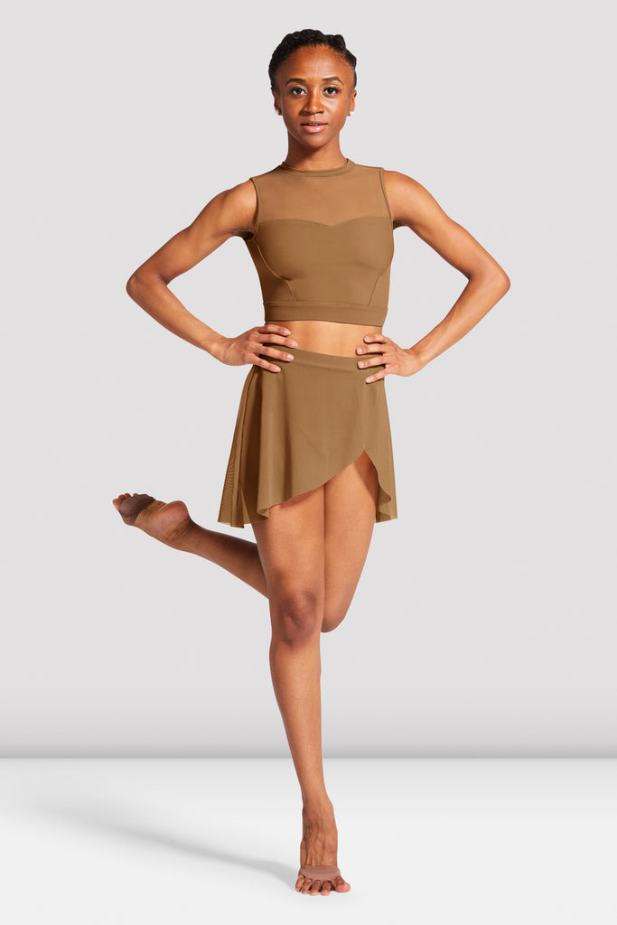 Ladies Jaylyn Wrap Front Skirt - BLOCH US