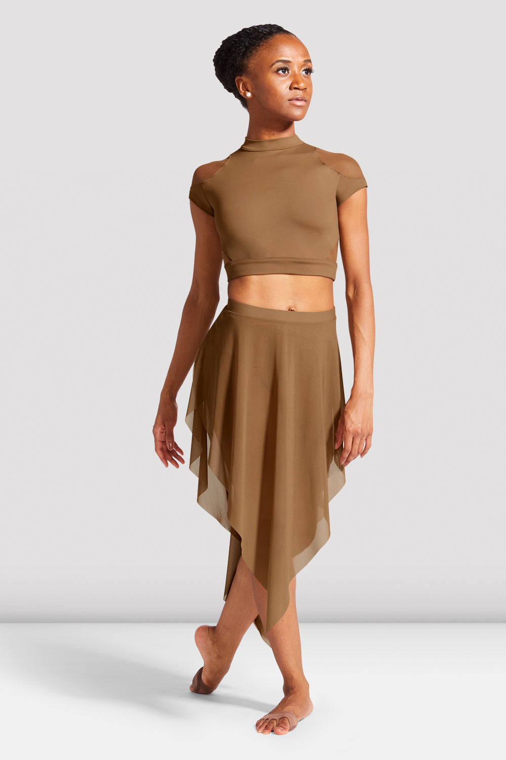Ladies Hanae Cap Sleeve Crop Top - BLOCH US