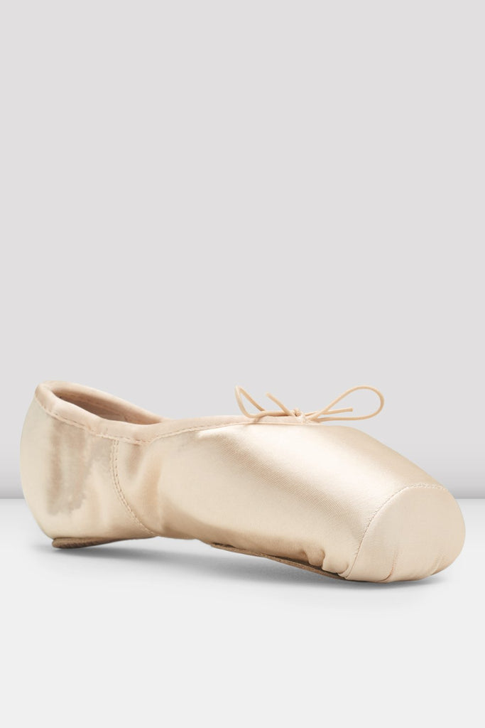 Pink Satin Bloch Axi Stretch Pointe Shoes single shoe