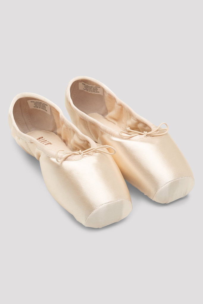 Pink Satin Bloch Axi Stretch Pointe Shoes pair of shoes