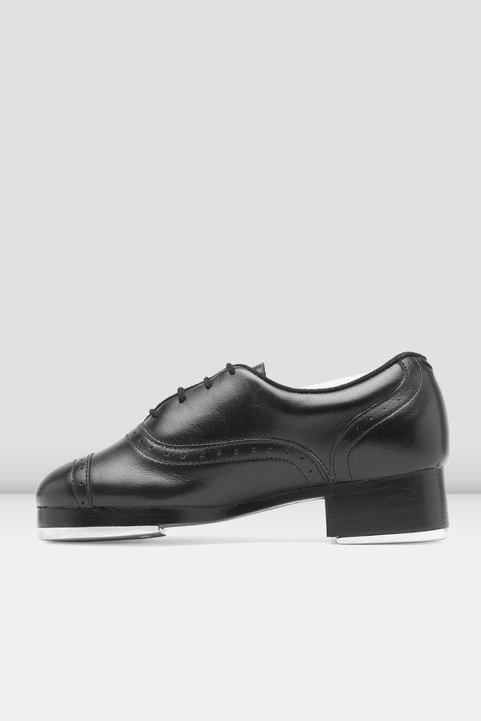 Black leather Bloch Ladies Jason Samuels Smith Tap Shoes single shoe side view