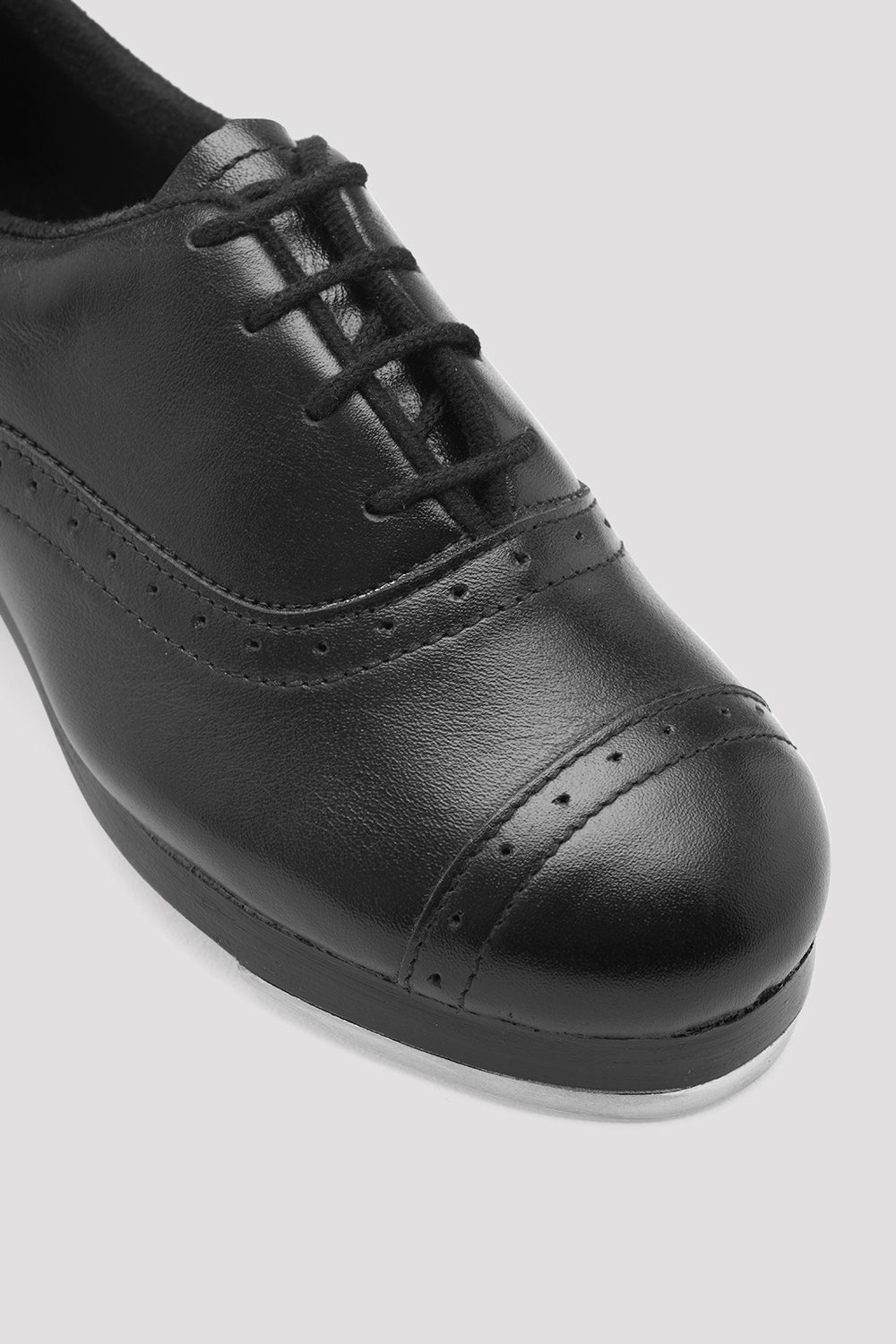 Black leather Bloch Ladies Jason Samuels Smith Tap Shoes single shoe  focus on shoe laces