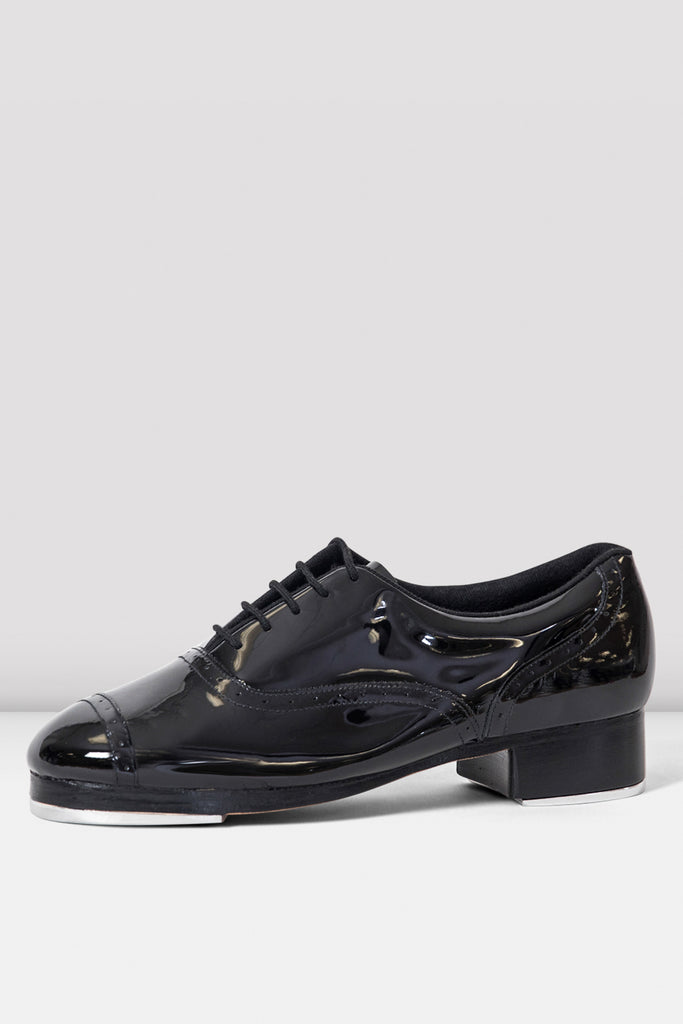 Black patent Bloch Ladies Jason Samuels Smith Tap Shoes single shoe side view