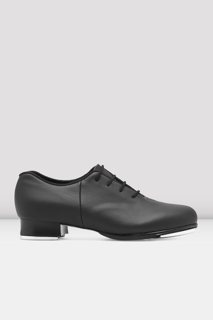 Black leather Bloch Ladies Audeo Jazz Tap Leather Tap Shoes single shoe side view