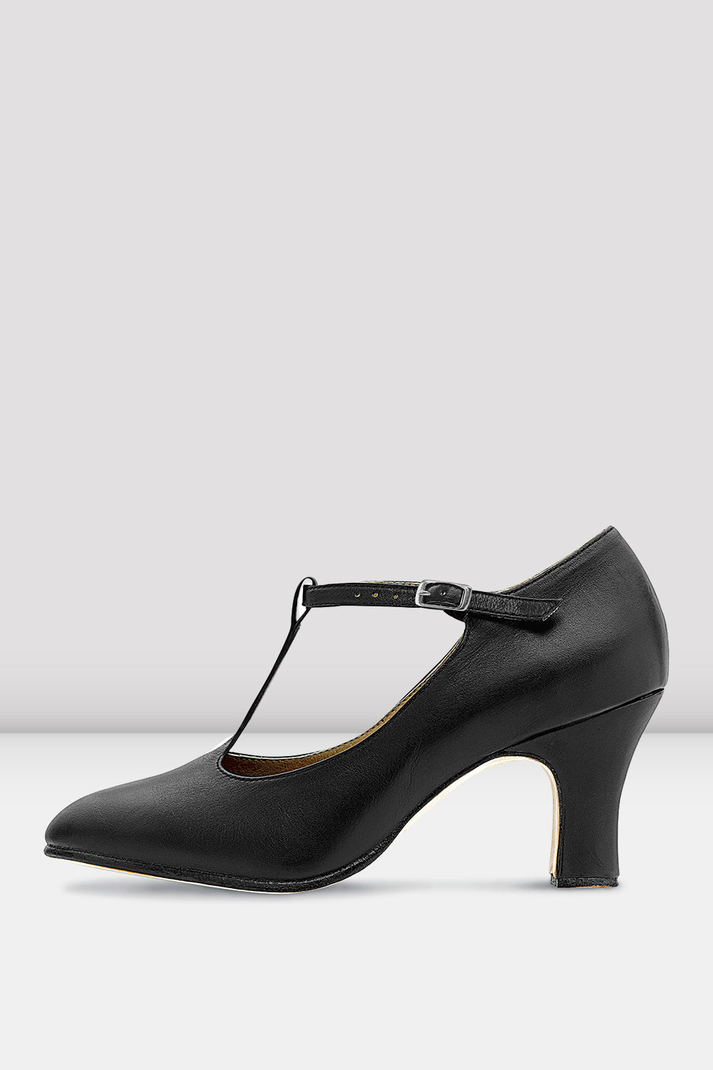 Ladies Chord T-Strap 3 inch Heel Character Shoes - BLOCH US
