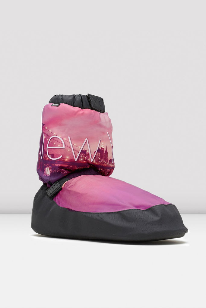 New York City Scape Adult Warm Up Booties