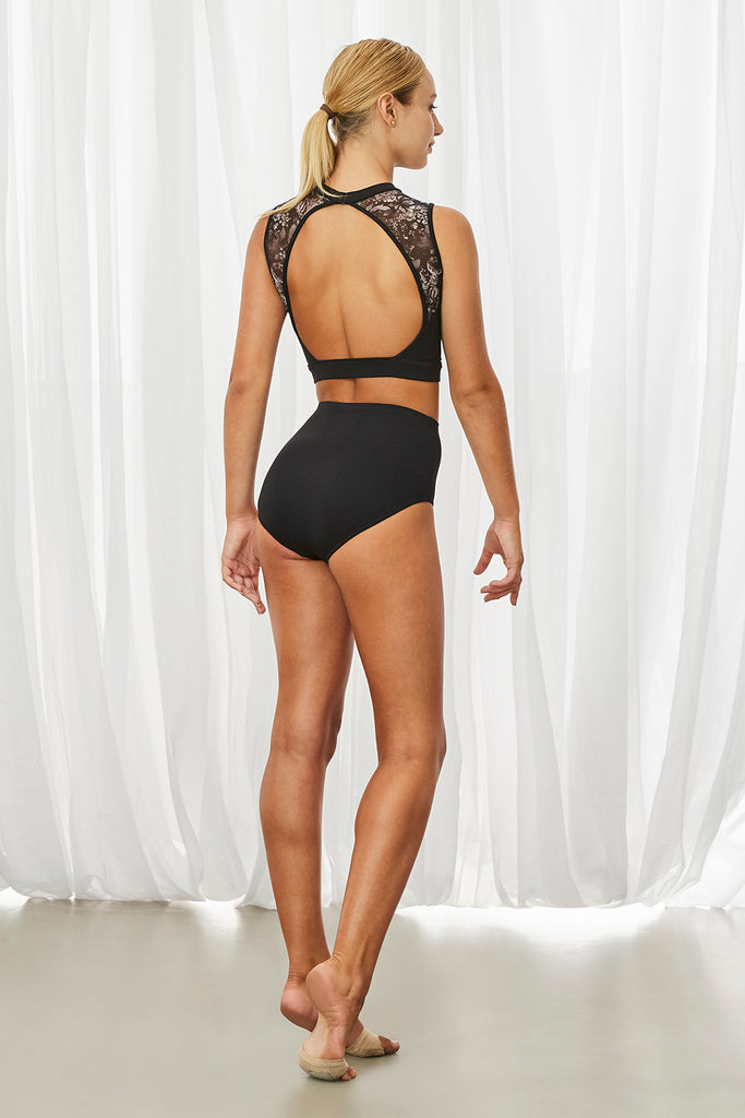 Ladies Arielle Open Back Tank Crop - BLOCH US