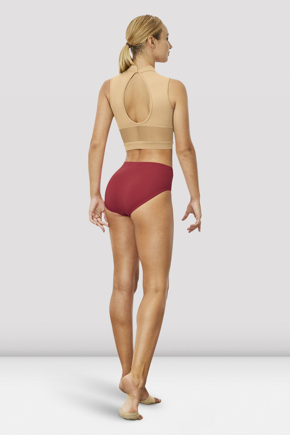 Ladies Chiaki Open Back Crop Top - BLOCH US