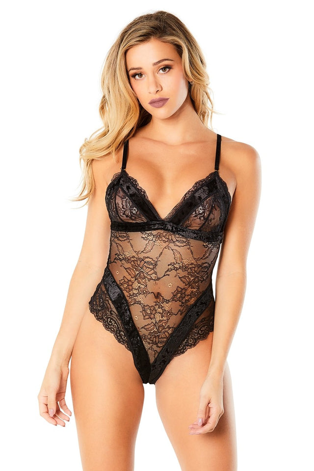 Velvet & Lace Teddy