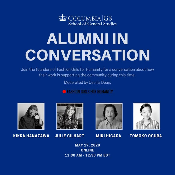 Webiner Hosted by Columbia University: Fashion Industry Response to Covid19