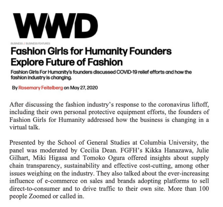 WWD Reports on our Columbia webiner