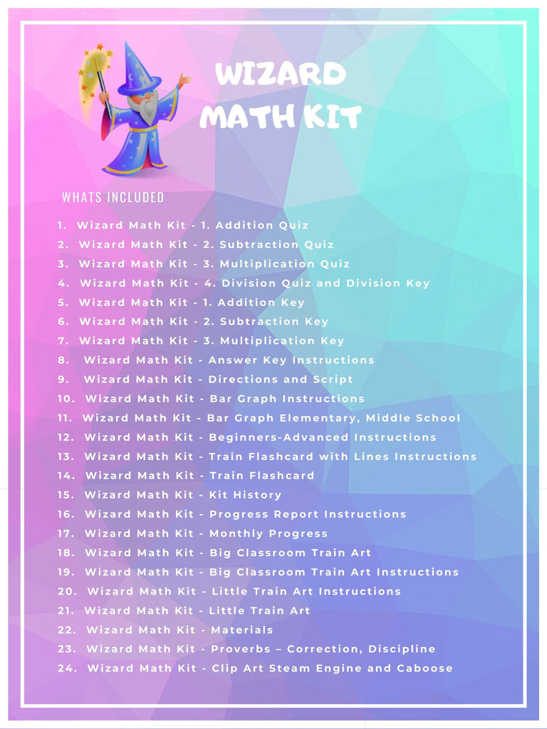 Wizard Math Kit Instant Download