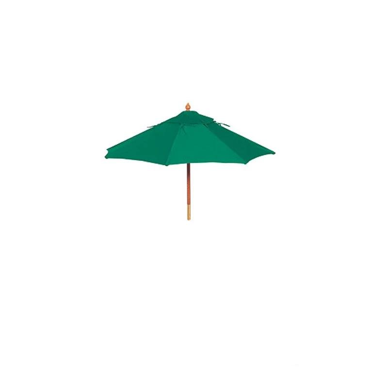"9' Grade ""C"" Acrylic, Umbrella With Wood Post - Manual Only"