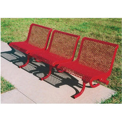 3-Seat Straight Bench With Back, Portable (800)