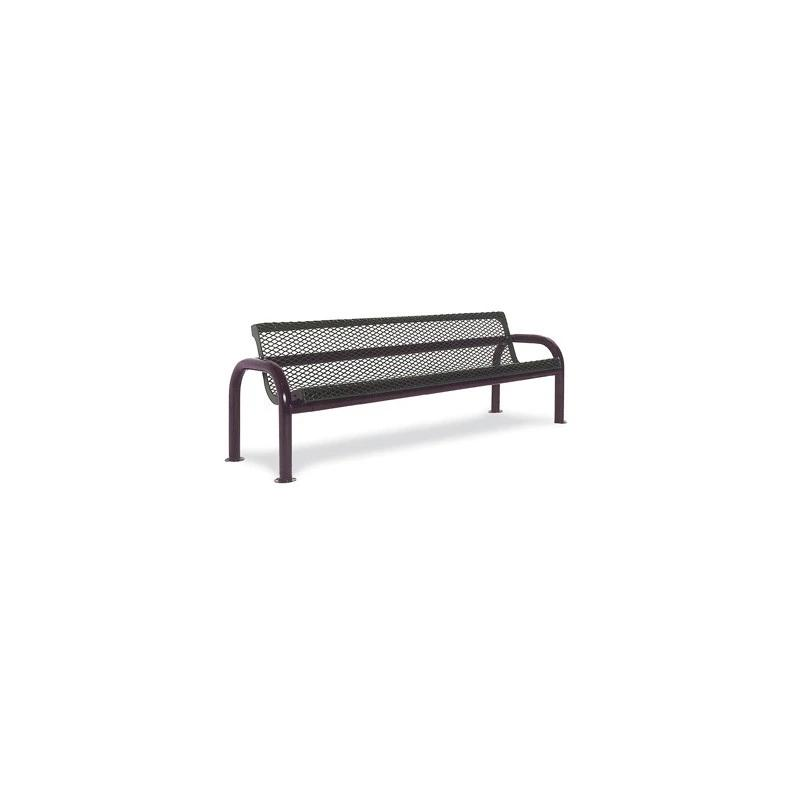 6' Contour Bench With Back, Portable (965)