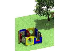 9-Station Learning Cluster | Commercial Playground Equipment