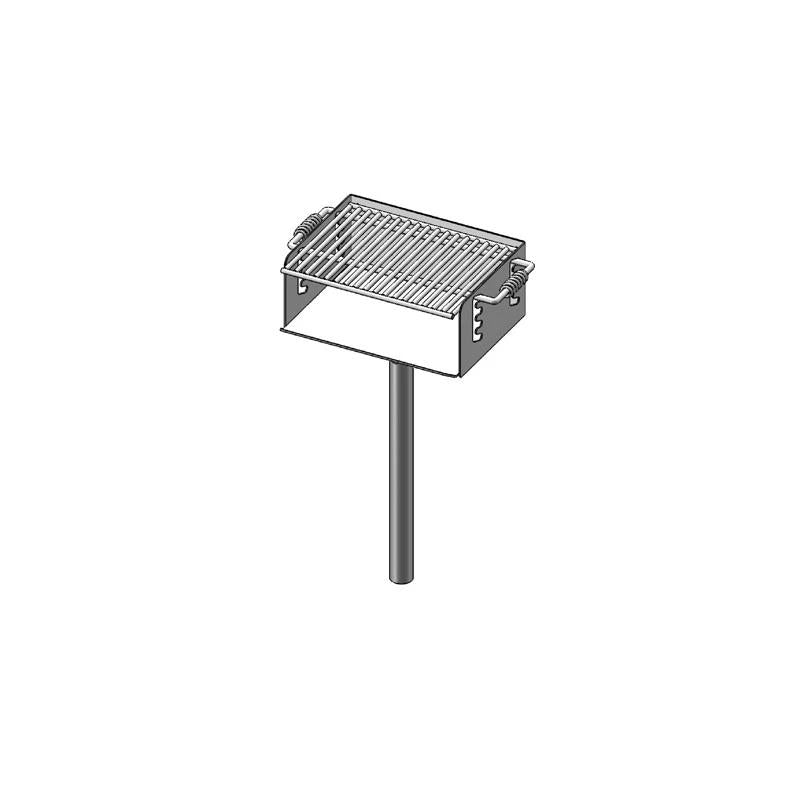 "ADA Rotating Pedestal Grill With 2 3/8"" O.D. Post (280 Sq. Inch) (620H)"