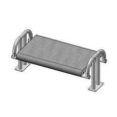 4' Contour Bench Without Back, Surface Mount (976)