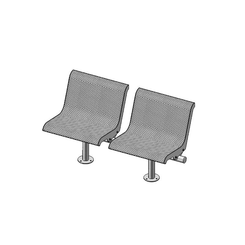 2-Seat Straight Bench With Back, Surface Mount (800)