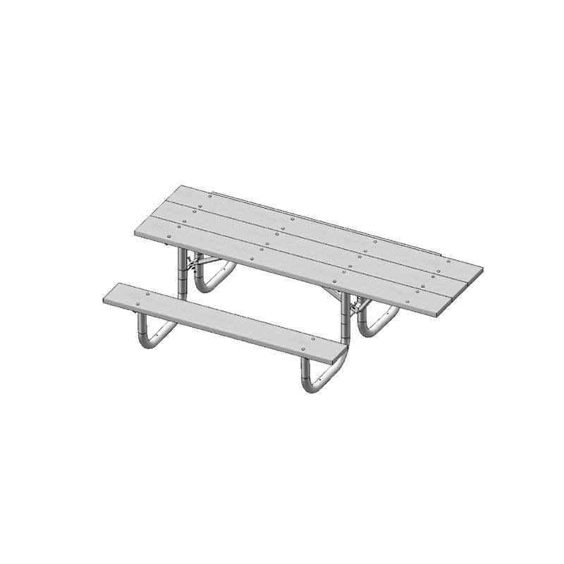 8' Single Sided Extra Heavy Duty ADA Table (238HS)