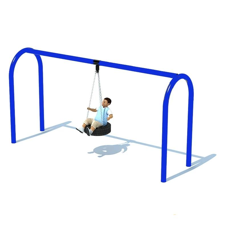"5"" ARCHED TIRE SWING FRAME (8') - 1 BAY"