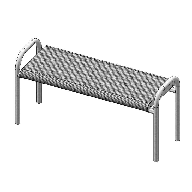 6' Contour Bench Without Back, Inground (966)