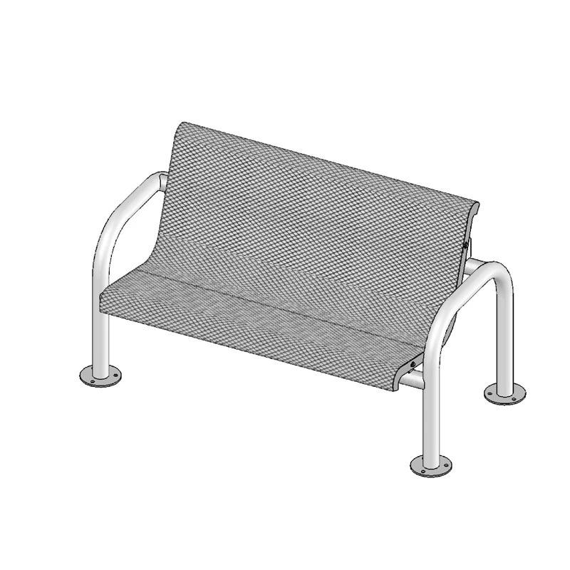 4' Contour Bench With Back, Portable (965)