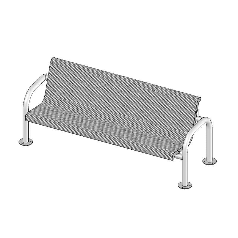 6' Contour Bench With Back, Surface Mount (965)