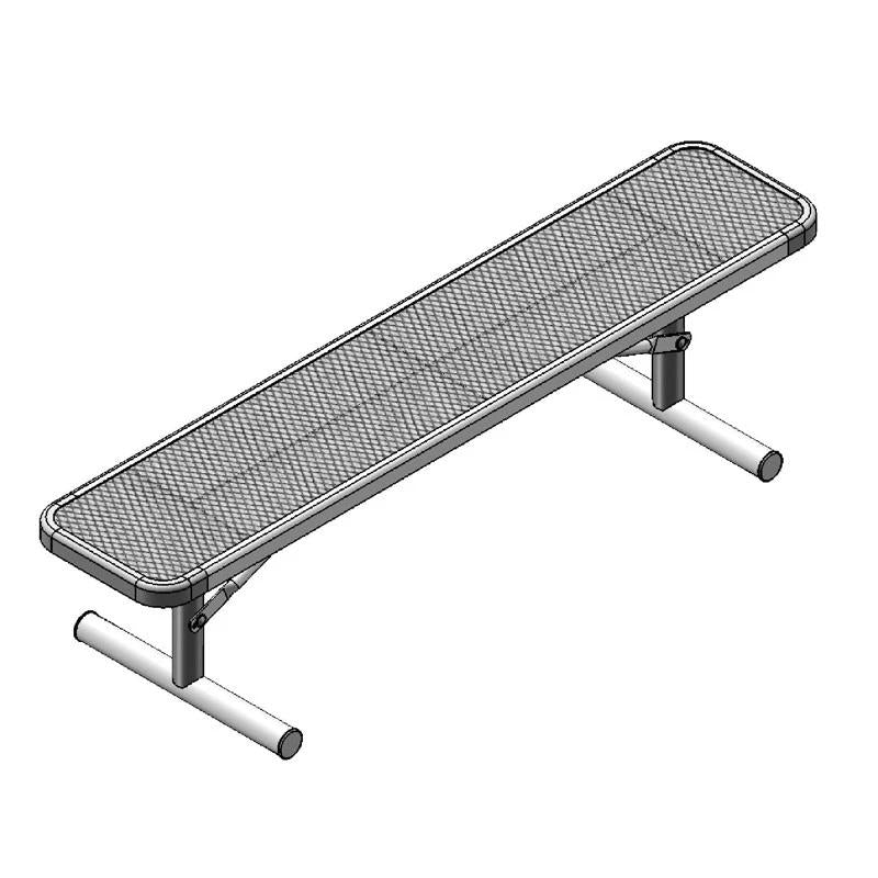 "6' Deluxe Bench Without Back, 2""x15"" Planks, Portable (942)"