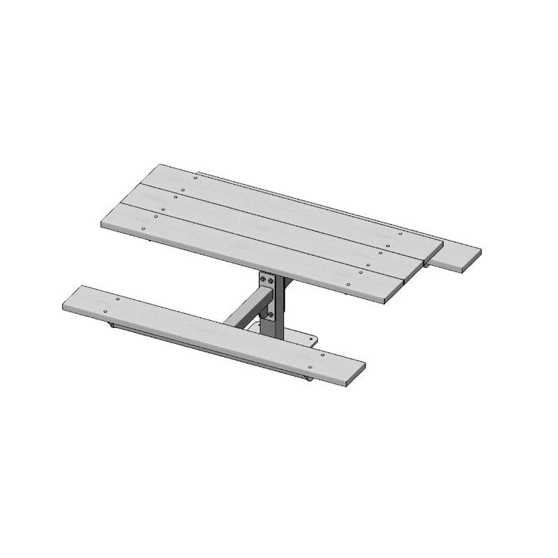 6' Single Pedestal Rectangle Table, Surface Mount (337)