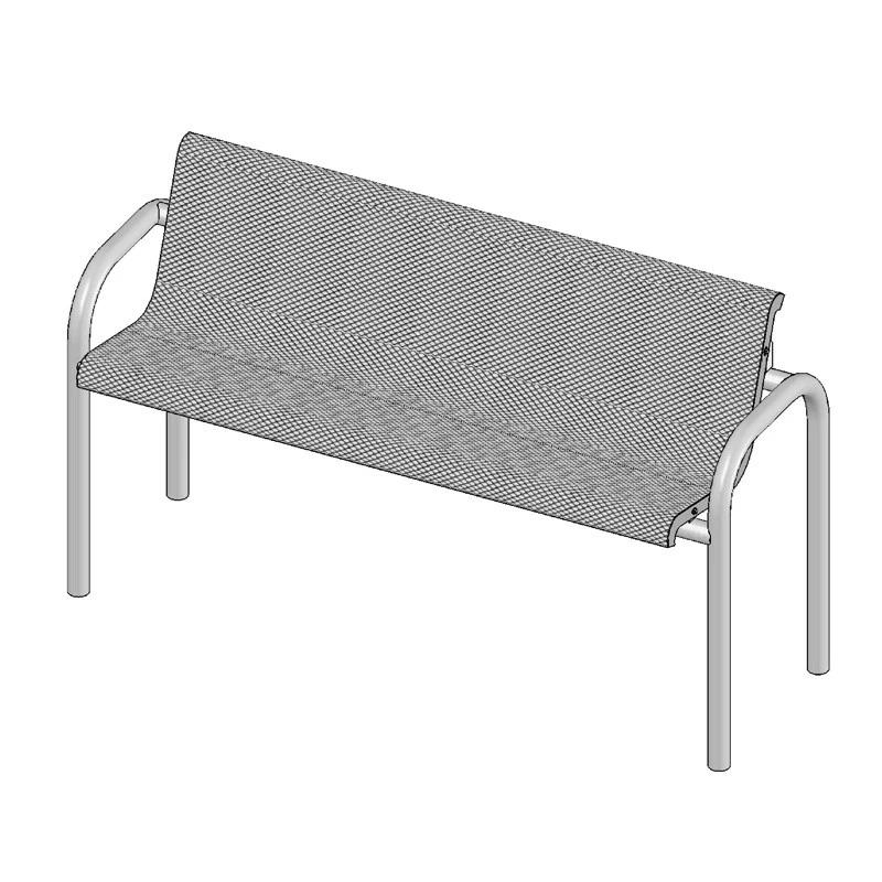 6' Contour Bench With Back, Inground (965)