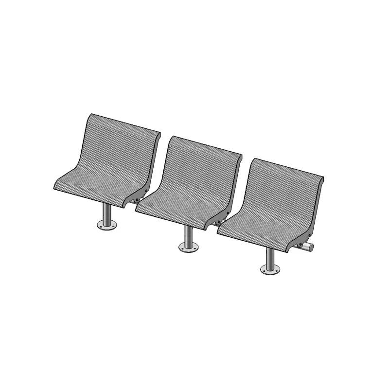 3-Seat Straight Bench With Back, Surface Mount (800)