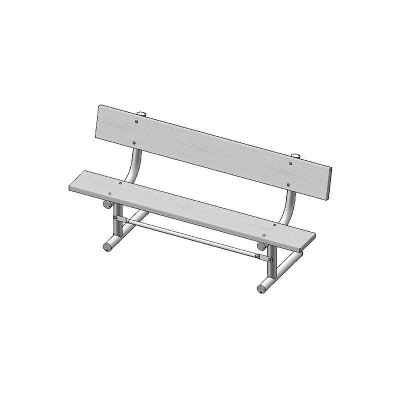 "6' Park Bench With Back, 2""x10"" Planks, Portable (940)"