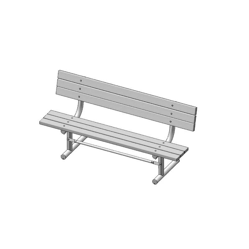 "6' Park Bench With Back, 2""x4"" Planks, Portable (940)"