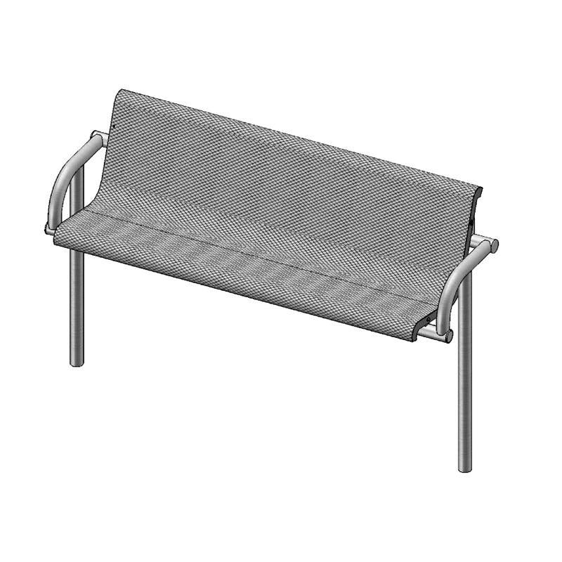 6' Contour Bench With Back, Inground (975)