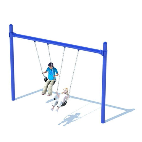 "5"" SINGLE POST SWING FRAME (8') - 1 BAY"