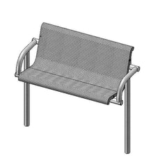 4' Contour Bench With Back, Inground (975)