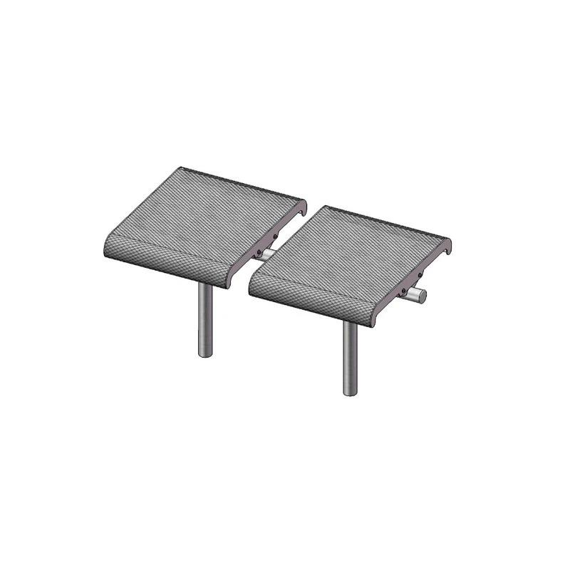 2-Seat Straight Bench Without Back, Inground (700)