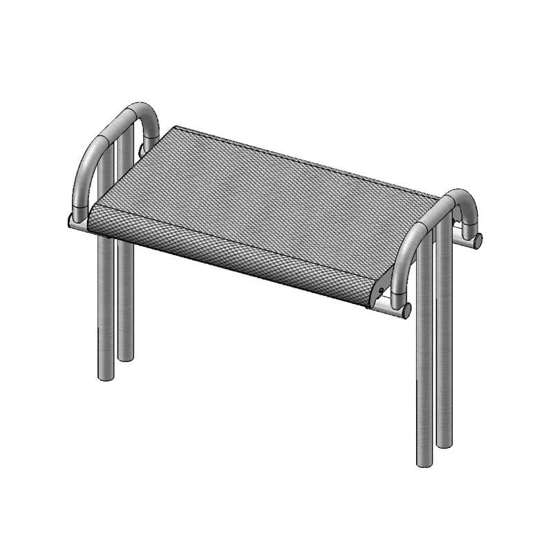 4' Contour Bench Without Back, Inground (976)