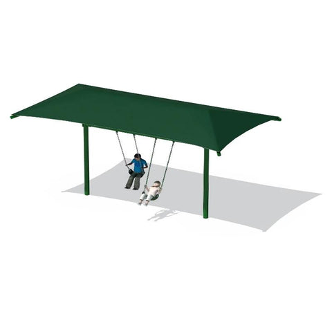 "5"" SINGLE POST SWING FRAME WITH SHADE(8') - 1 BAY"