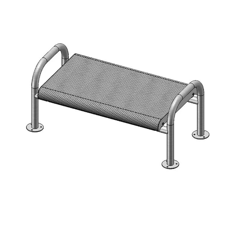 4' Contour Bench Without Back, Surface Mount (966)