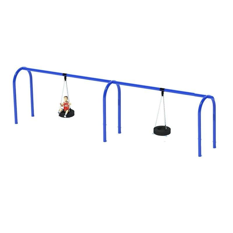 "5"" ARCHED TIRE SWING FRAME (8') - 2 BAY"