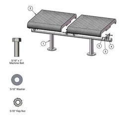 2-Seat Straight Bench Without Back, Surface Mount (700)