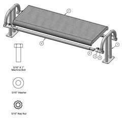 6' Contour Bench Without Back, Surface Mount (976)