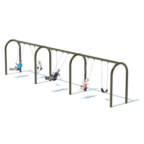 "5"" ARCH SWING FRAME (8') - 3 BAY"