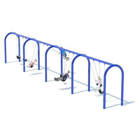 "5"" ARCH SWING FRAME (8') - 4 BAY"