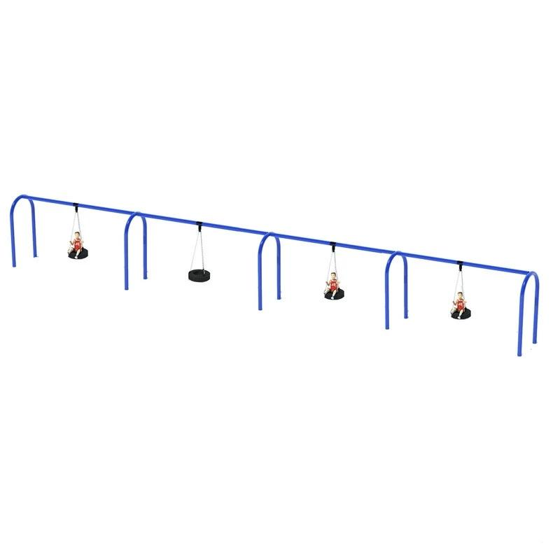 "5"" ARCHED TIRE SWING FRAME (8') - 4 BAY"