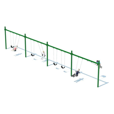 "5"" SINGLE POST SWING FRAME (8') - 4 BAY"